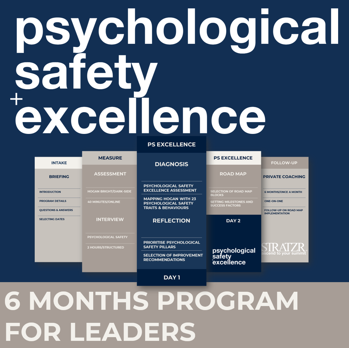 psychological safety excellence program for leaders by STRATZR.com