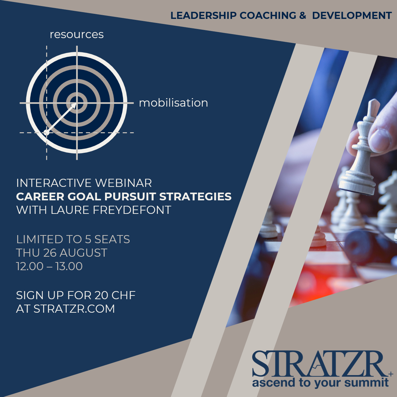 STRATZR.com - webinar - career goal pursuit strategies